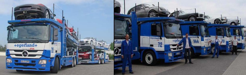 Ein gut bepackter Fahrzeugtransport - überwacht und gesteuert durch Telematik